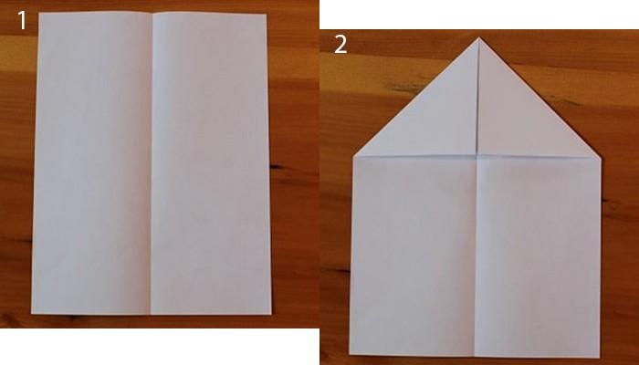 рис 1 и рис 2 самолетик из бумаги Бульдожек