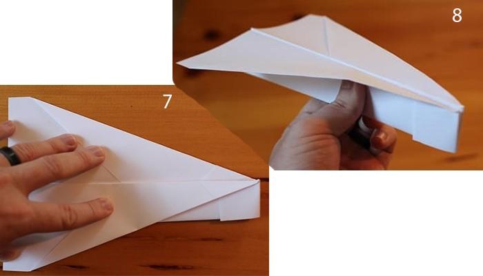 рис 7 и рис 8 самолетик из бумаги Бульдожик