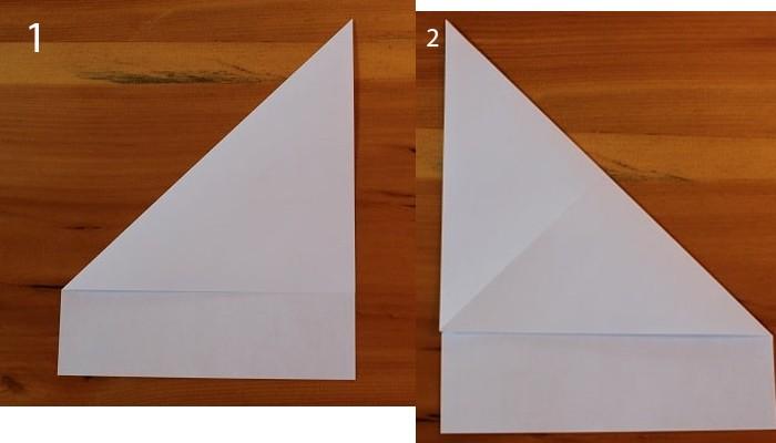 рис 1 и рис 2 самолетик из бумаги Стриж