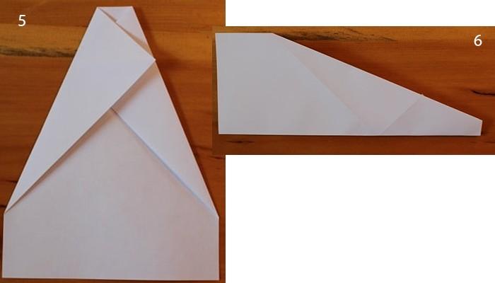 рис 5 и рис 6 самолетик из бумаги Стриж