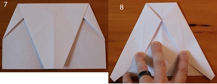 рис 7 и рис 8 самолетик из бумаги Стриж
