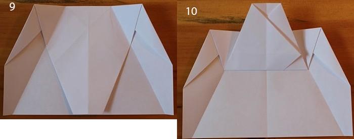 рис 9 и рис 10 самолетик из бумаги Стриж