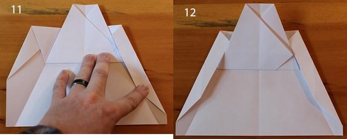 рис 11 и рис 12 самолетик из бумаги Стриж
