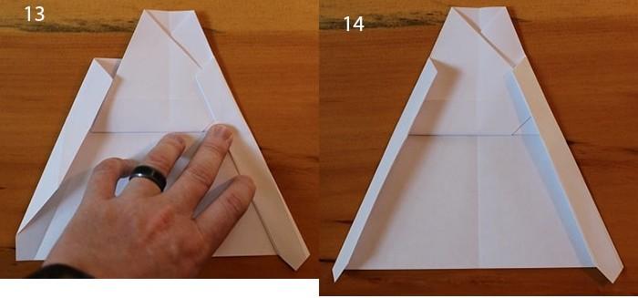 рис 13 и рис 14 самолетик из бумаги Стриж