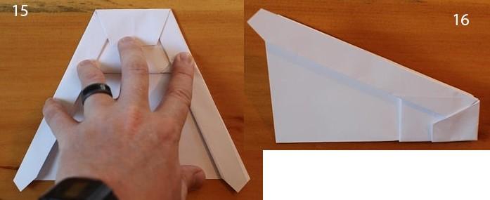 рис 15 и рис 16 самолетик из бумаги Стриж