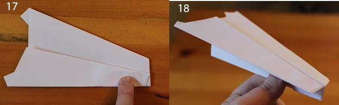 рис 17 и рис 18 самолетик из бумаги Стриж