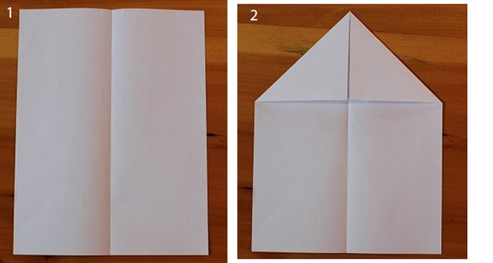рис 1 и рис 2 самолетик из бумаги Орленок