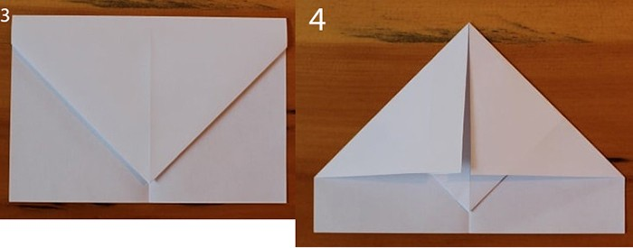 рис 3 и рис 4 самолетик из бумаги Орленок
