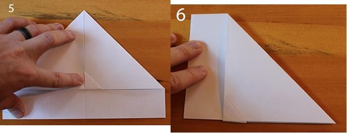 рис 5 и рис 6 самолетик из бумаги Орленок