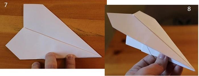 рис 7 и рис 8 самолетик из бумаги Орленок
