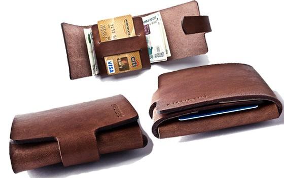 вид бумажника в развернутом и свернутом виде