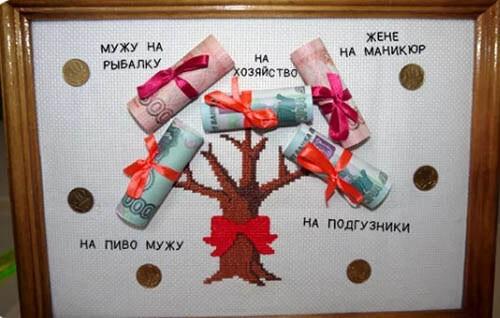 эстамп подарок деньгами