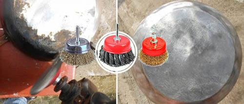 чистка металлической щеткой