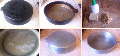 кипячение сковороды