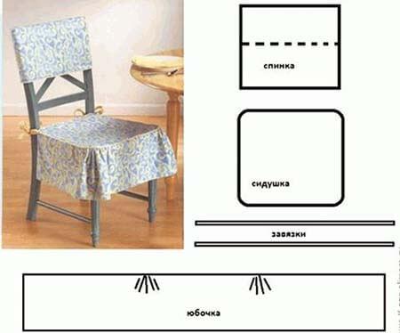 одеваем деревенский стул