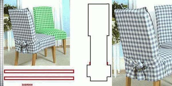 чехол для стульев с прямой спинкой