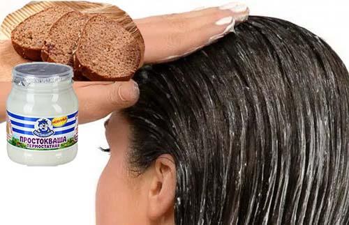 Компоненты для укрепляющей волосы кефирной маски