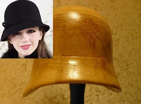 Как выглядит болванка для шляпы типа клоке