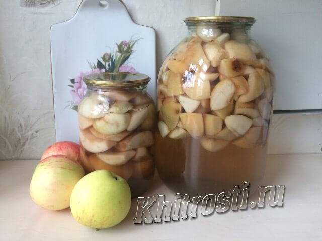 Компот из яблок на зиму - простой рецепт в банках без стерилизации